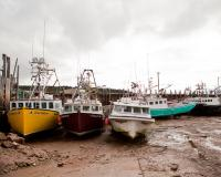 Boats on the Bay of Fundy