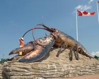 The World's Largest Lobster in Shediac, New Brunswick